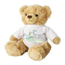 Blue Church Message Bear with T-Shirt